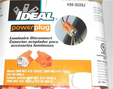 Ideal 30353XJ Power 3 port Plug Luminaire Disconnect 25 Pieces  NEW!  eBay