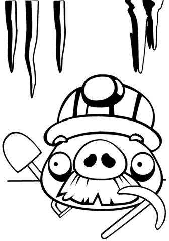 Dibujo De Cerdo Con Bigote Para Colorear Dibujos Para Colorear