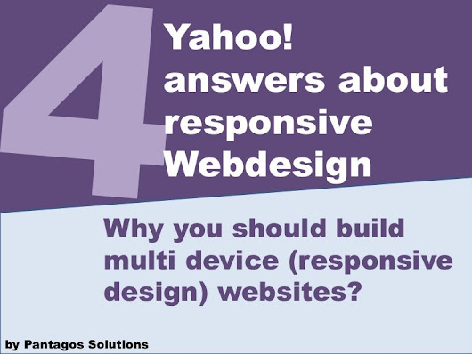 The Yahoo Answers about responsive webdesign