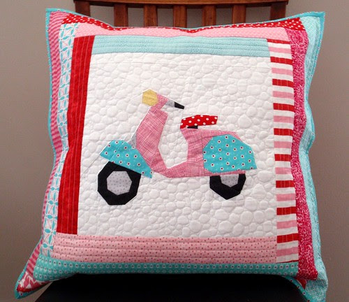 QUILTED PILLOW - Cutie Scootie Patootie