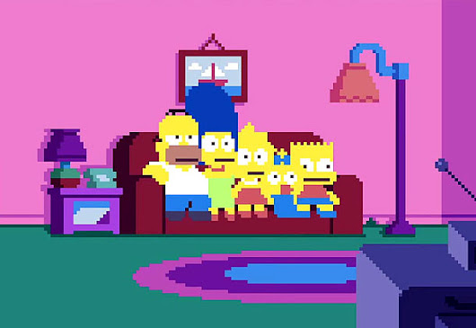 Were You Born In The 80s? Simpsons Opening In Pixels