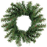 Mini Pine Artificial Christmas Wreath - 5-Inch, Unlit by Christmas Central