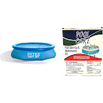Intex 10ft x 30in Inflatable Above Ground Swimming Pool with Pool Chemical Kit