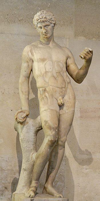 Adonis. Marble, antique torso restored and com...