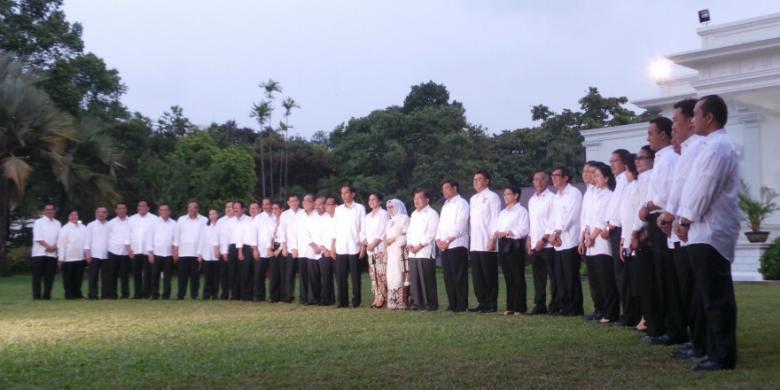 Daftar Nama-nama Menteri di Kabinet Jokowi -JK