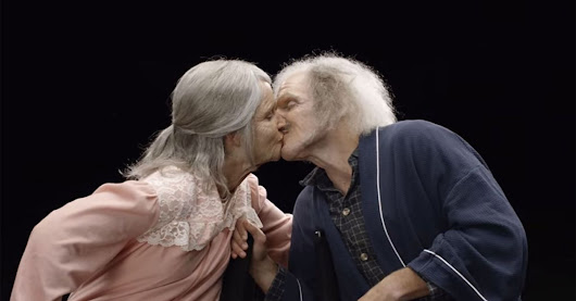 Young couple sees what they'll look like as they grow old together
