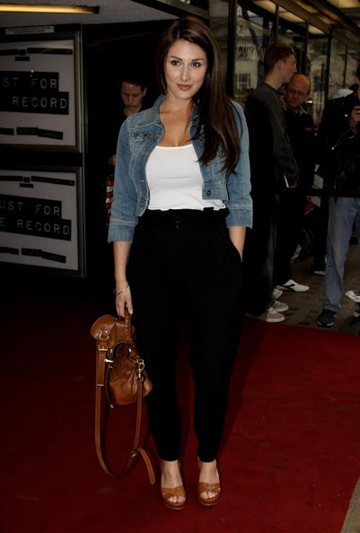 Model Lucy Pinder arrives at the 'Just For the Record' Gala Screening at Curzon Mayfair