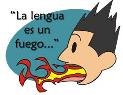 Resultado de imagen para la lengua es un fuego