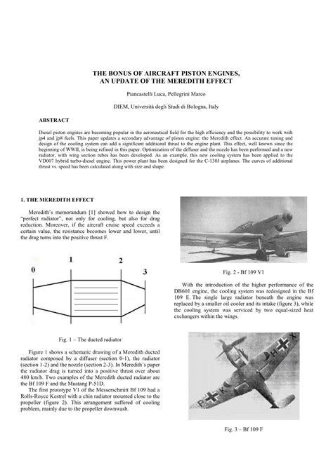(PDF) The bonus of aircraft piston engines, an update of