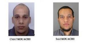 Cherif and Said Kouachi, deux des trois suspects dans l'attaque terroriste de Charlie Hebdo qui a fait 12 morts  </div><br /> (Capture d'écran/Police française)