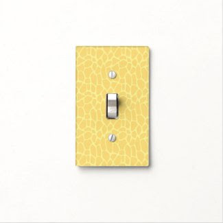 Yellow Giraffe Print Light Switch Plate