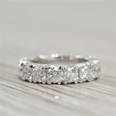 French Pavé Eternity Band 4.25mm 4ct in White