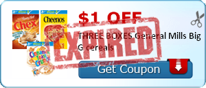 $1.00 off THREE BOXES General Mills Big G cereals