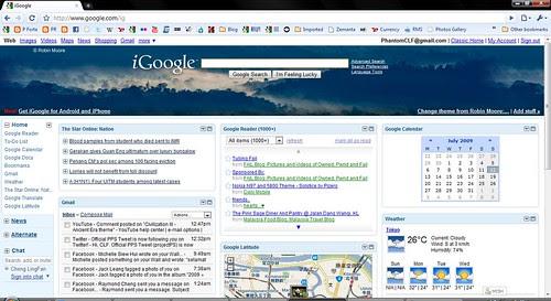 iGoogle on Google Chrome