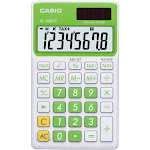 Casio Sl300vcgnsih Solar Wallet Calculator with 8 Digit Display Green