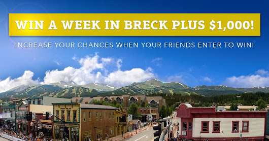 I just entered to Win a Week in Breck and you can too!