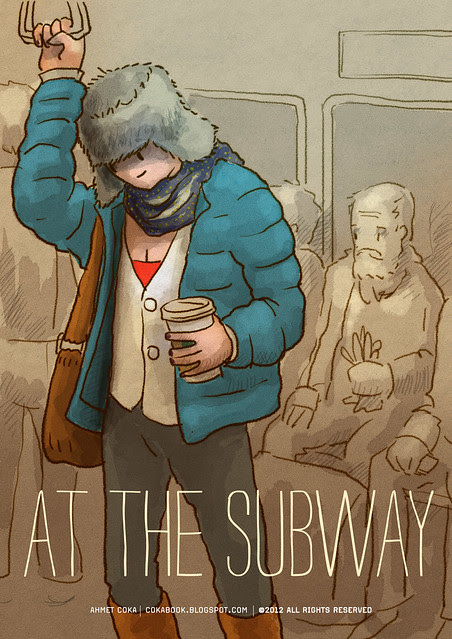 girl at subway