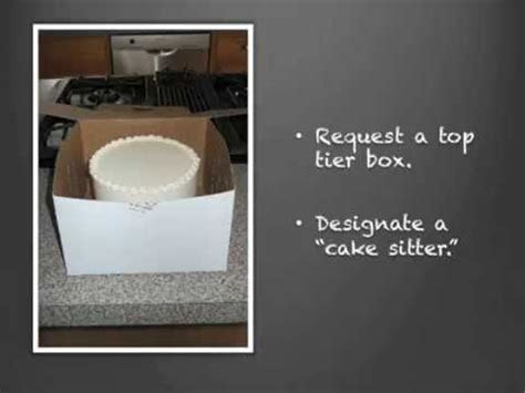 How to Freeze the Top Tier of Your Wedding Cake   YouTube