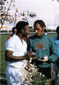 Pelé con Edgardo Andrada