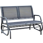 "Outsunny 48"" Freestanding Patio Glider Bench - Dark Gray"