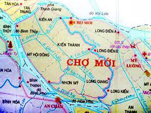 Bản đồ huyện Chợ Mới tỉnh An Giang