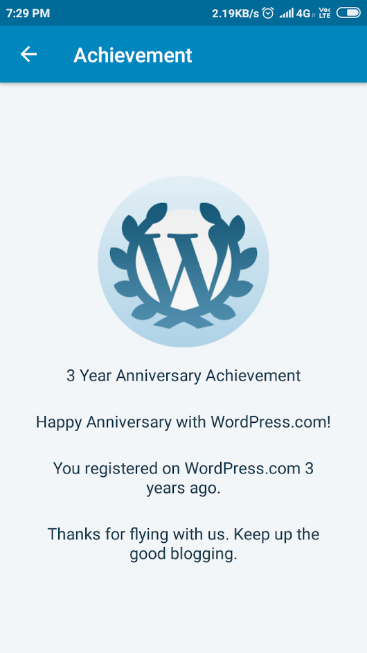 Happy 3rd WP Anniversary to me – पवन Belala Says❤️