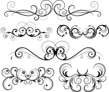 Free Ornate Vector Swirls, Vector File - Clipart.me