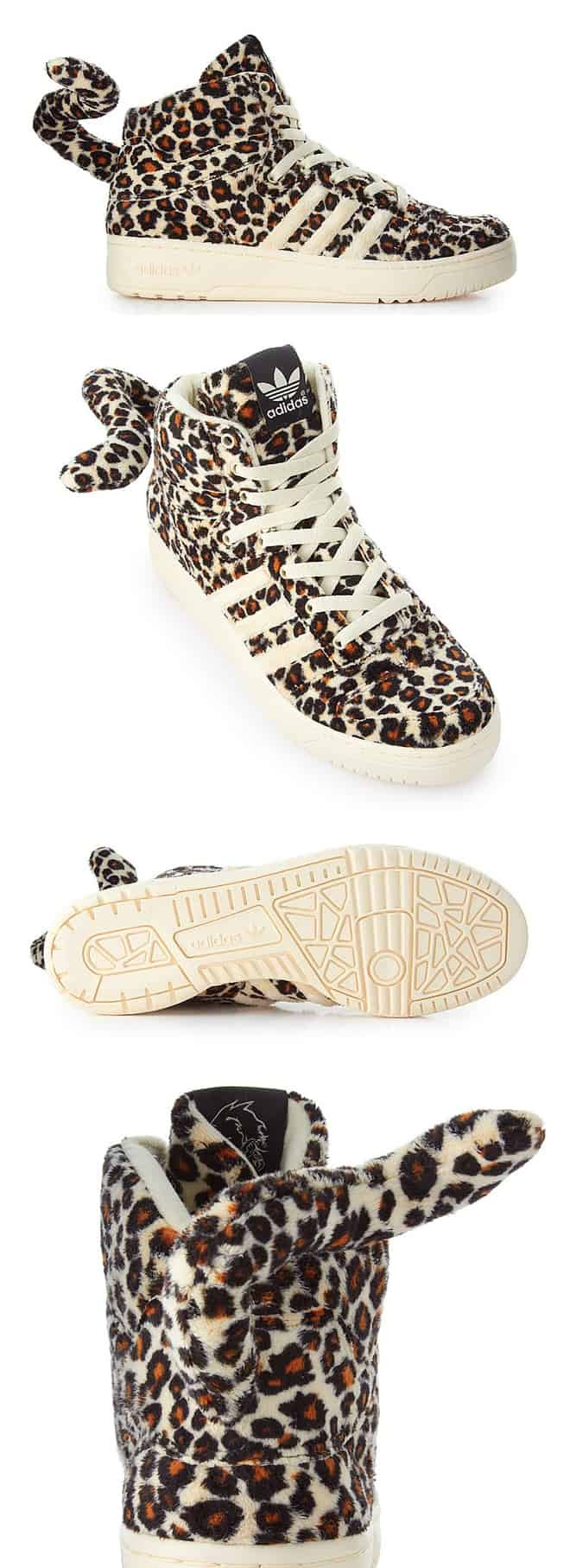 Adidas X Jeremy Scott Leopard Tail Sneakers