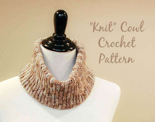 """Knit"" Crochet Cowl Pattern 