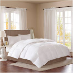 True North by Sleep Philosophy Level 2 Down Comforter, Twin, White