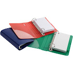 Oxford Poly Index Card Binder