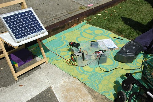 Solar-Powered Boom-box Experiment