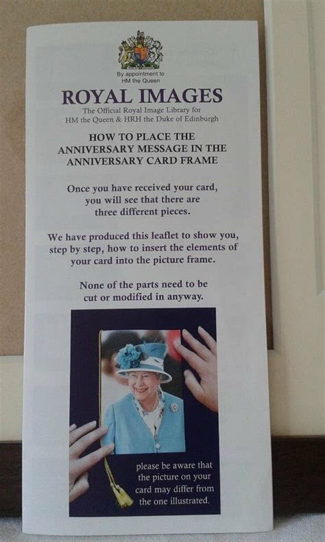 Handmade frame to hold the Queen's Diamond Wedding