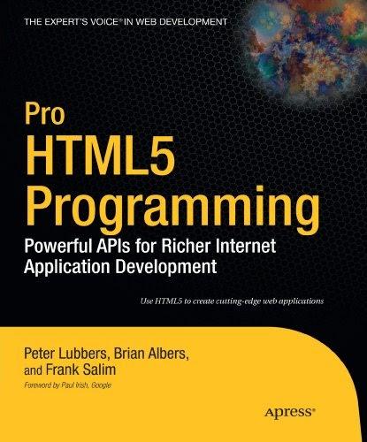 Pro HTML 5 Programming
