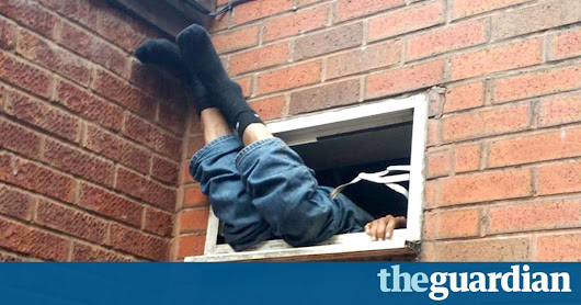 Chicken shop takeaway goes wrong as suspected burglar gets stuck in vent | UK news | The Guardian
