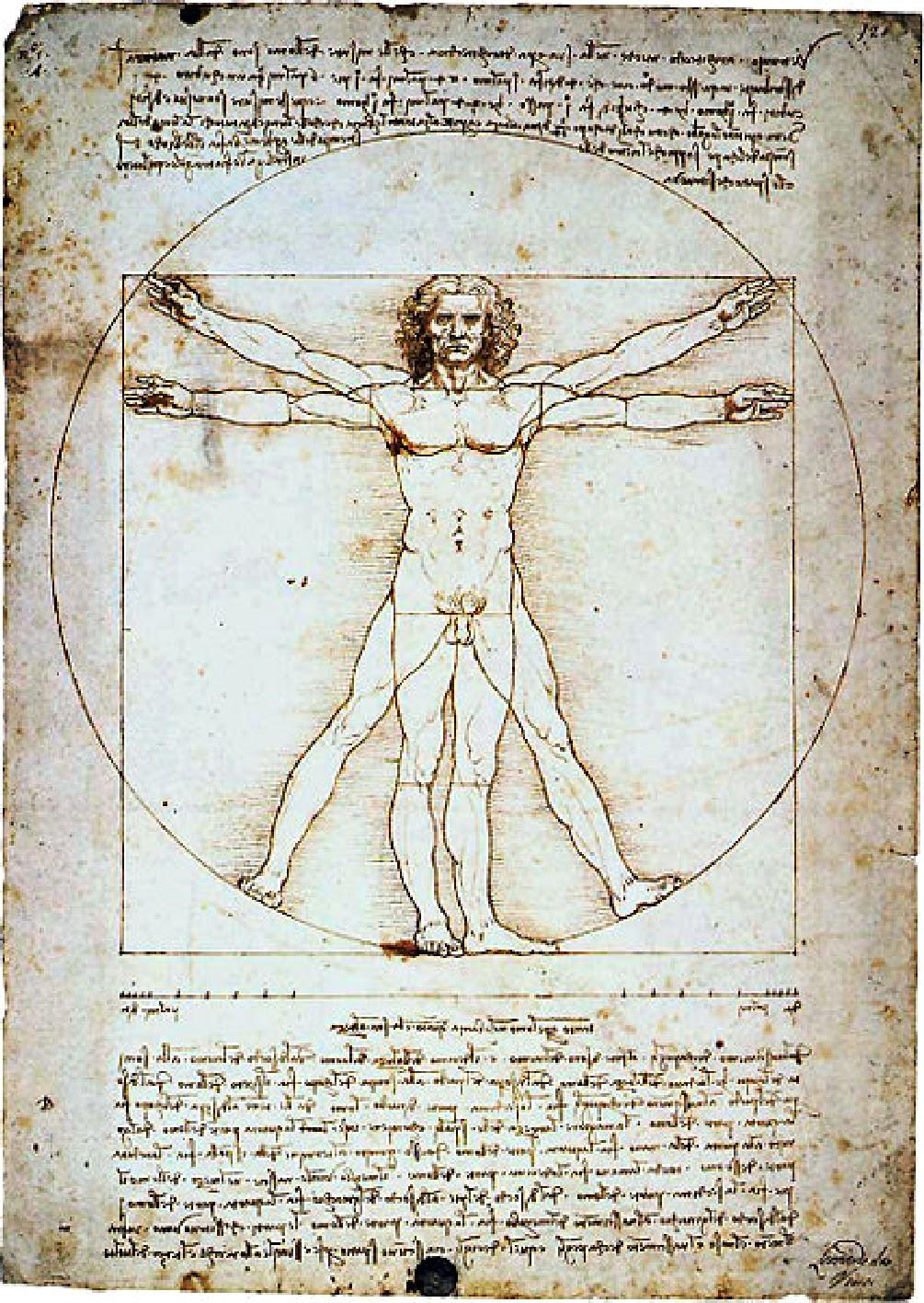 Leonardo - Homem vitruviano