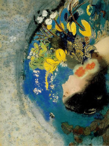 Ophelia, 1900-05, Odilon Redon, Pastel on paper mounted on board, 51 x 67 cm
