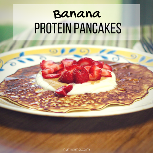 Better Breakfasts: Banana Protein Pancakes