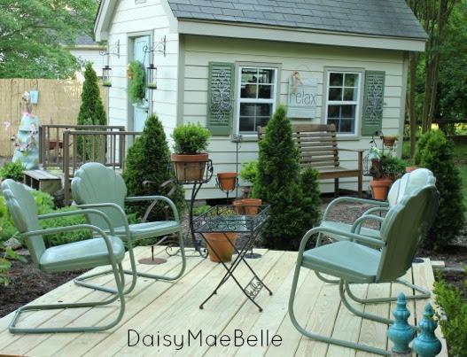 Vintage Metal Chairs @ DaisyMaeBelle