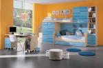 Bedroom: Interesting Bedroom Design Ideas With Fresh Orange Wall ...