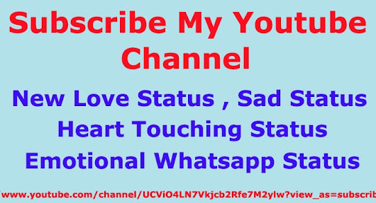 Subscribe My New Youtube Channel - Status World - Hindi Me Gyaan