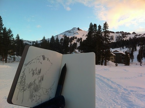 January 2013: Kirkwood - Sketching and Skiing by apple-pine