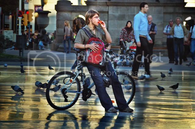 Biker at Catalonia Square [enlarge]