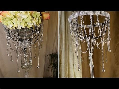 DIY   Dollar Tree Chandelier and Wedding Decorations   YouTube