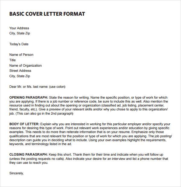 Basic Event Planner Cover Letter