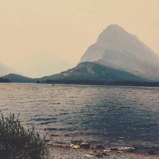 Fog over Swiftcurrent Lake, Glacier National Park