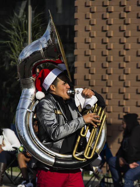 Downey Christmas Parade 2013 trumpeter