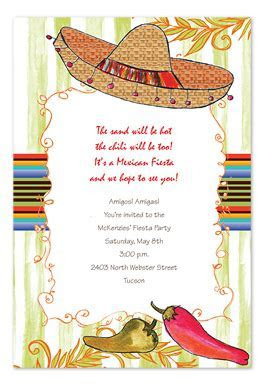 Spicy Sombrero   Party Invitations by Invitation