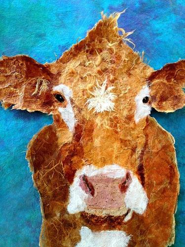 torn-paper-cow-portrait-unfinished