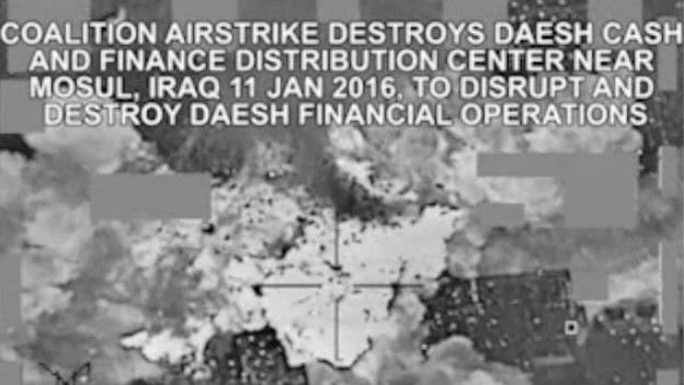 Ataque de EE.UU. contra depósito de dinero de Estado Islámico